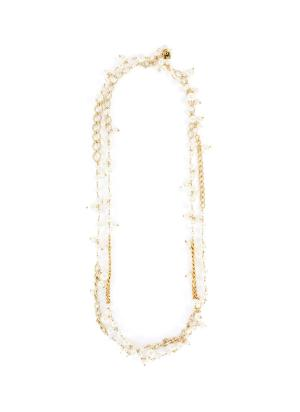 'Comedy' pearl layered necklace