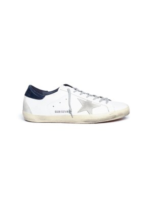 'Superstar' brushed calfskin leather sneakers
