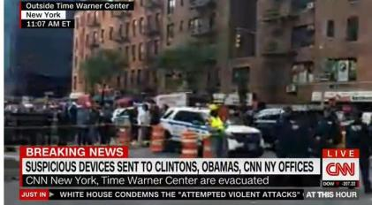Evacuazione sede CNN