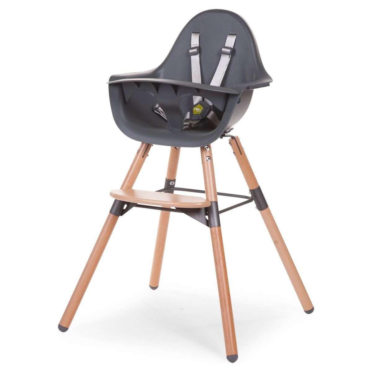 chaise haute chaise haute evolu 2 pieds bois anthracite chaise haute evolu 2 pieds bois