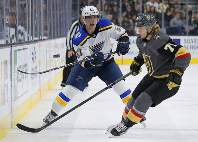 Golden Knights Take On Blues