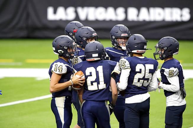 High School Football Practice At Allegiant Stadium
