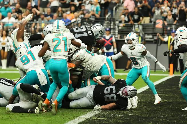 Raiders vs Dolphins at Allegian Stadium Sept 26, 2021