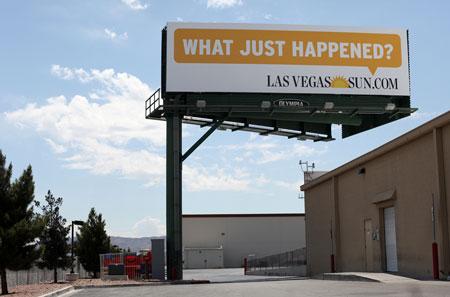 Las Vegas Sun billboard