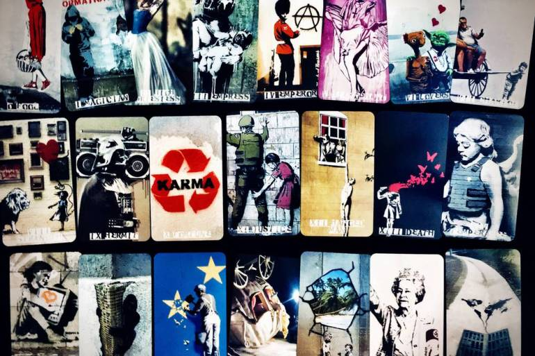 Image result for Banksy tarot