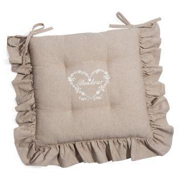 Za419 cuscino sedia cucina giardino elastico arredo 38x38cm cotone. Cuscini Per Sedie