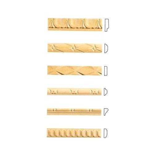 Decori in gesso come rosoni e fregi, cornici e lesene, colonne e capitelli, sovrapporta e fregi, arricchiscono qualsiasi ambiente della casa. Listelli Decorativi In Legno Per Pareti