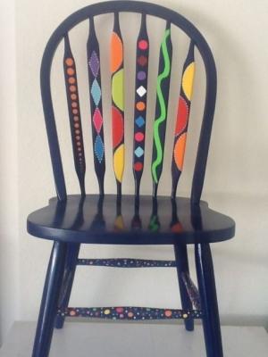 Per ridipingere la sedia sono stati usati smalti per legno the paint makers e una parte è stata lasciata in legno a vista! Come Decorare Sedie Col Fai Da Te