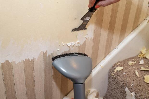 Potrai ripitturare lacarta da parati senza dover ritappezzare le pareti. Rimuovere Una Vecchia Carta Da Parati
