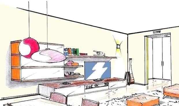 L'immobile è dotato di aria condizionata nel soggiorno e di zanzariere alle finestre. Progetto Soggiorno 18 Mq
