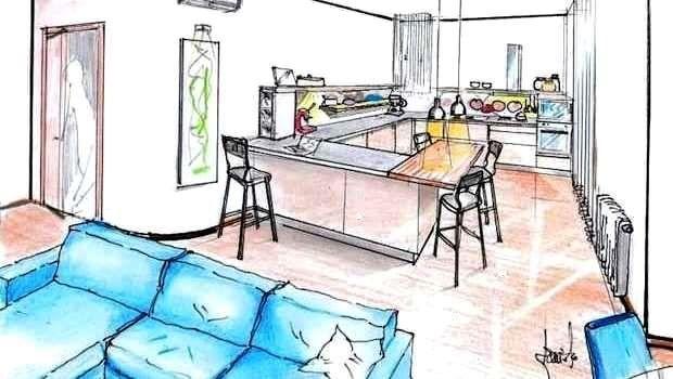 Progetto 37 mq architettura a domicilio. Zona Living Soluzioni