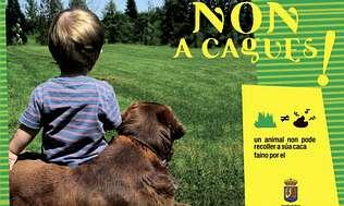 La campaña «Non a cagues» aboga por la limpieza del centro marinense