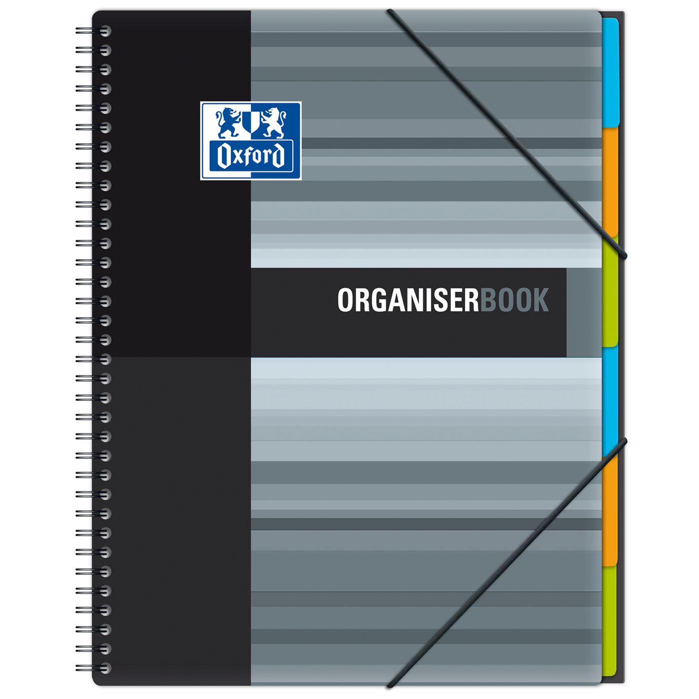 Oxford OrganiserBook Cahier A4 160 Pages Grands Carreaux