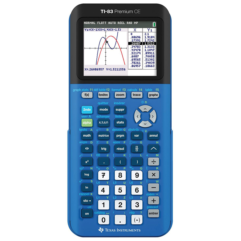 Texas Instruments TI 83 Premium CE Bleu Calculatrice