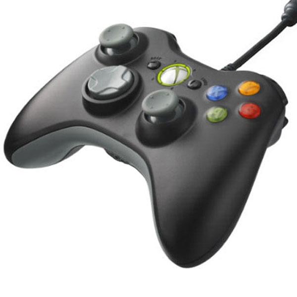 Microsoft Xbox 360 Controller Noir Joypad Microsoft Sur