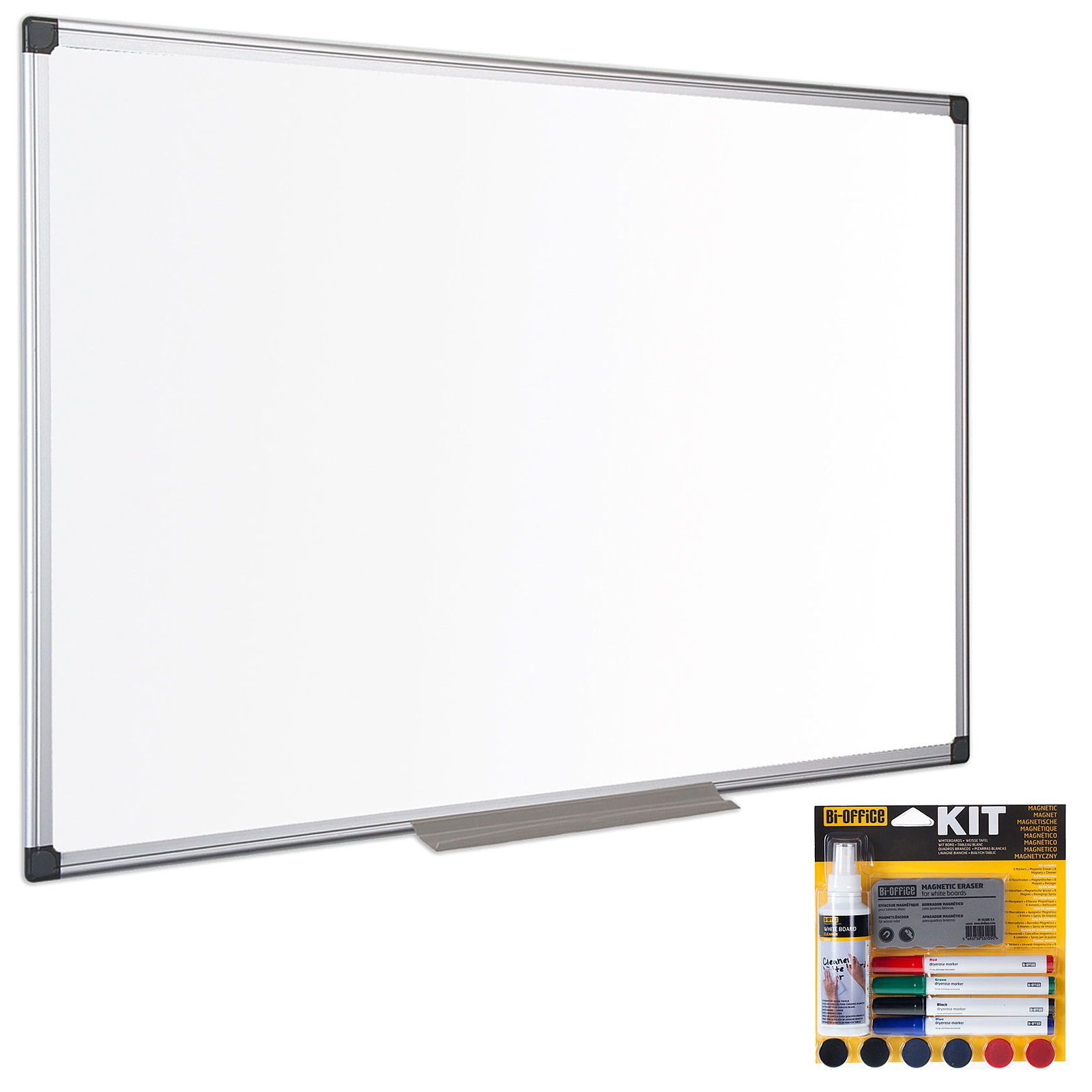 bi office tableau blanc laque 120 x 90 cm bi office kit magnetique