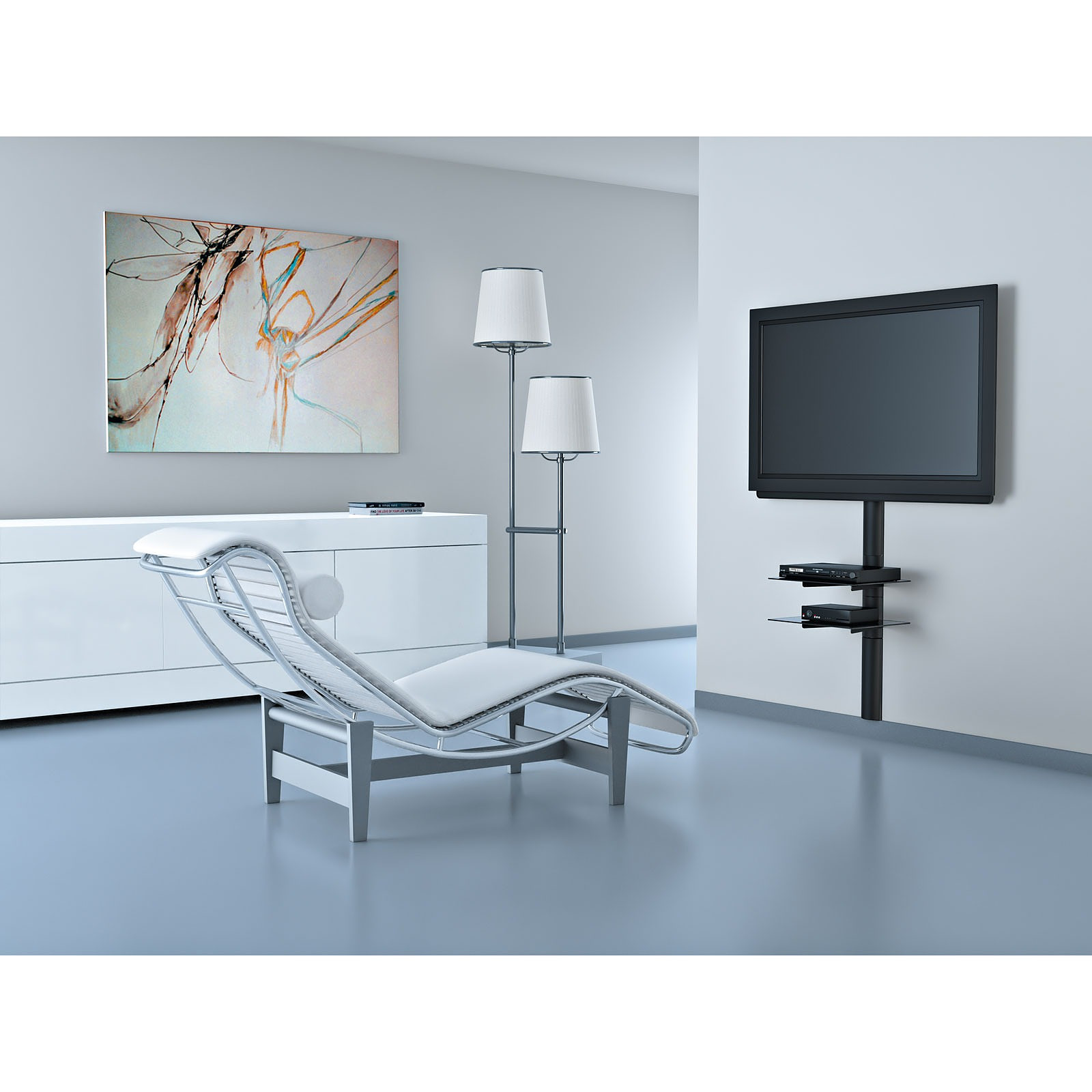 meliconi line cover support mural tv