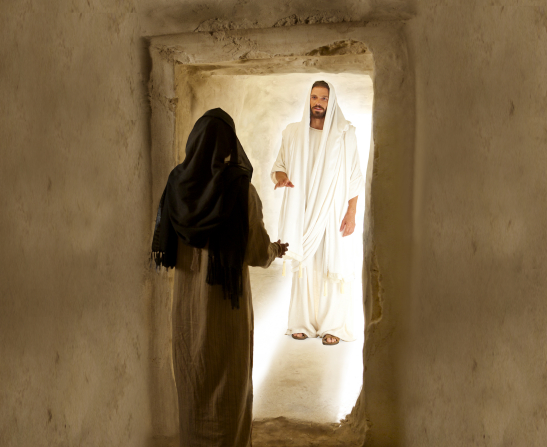 John 20:3–18, Mary Magdalene speaks with the resurrected Christ