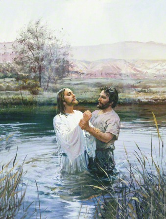 Juan el Bautista bautiza a Jesus