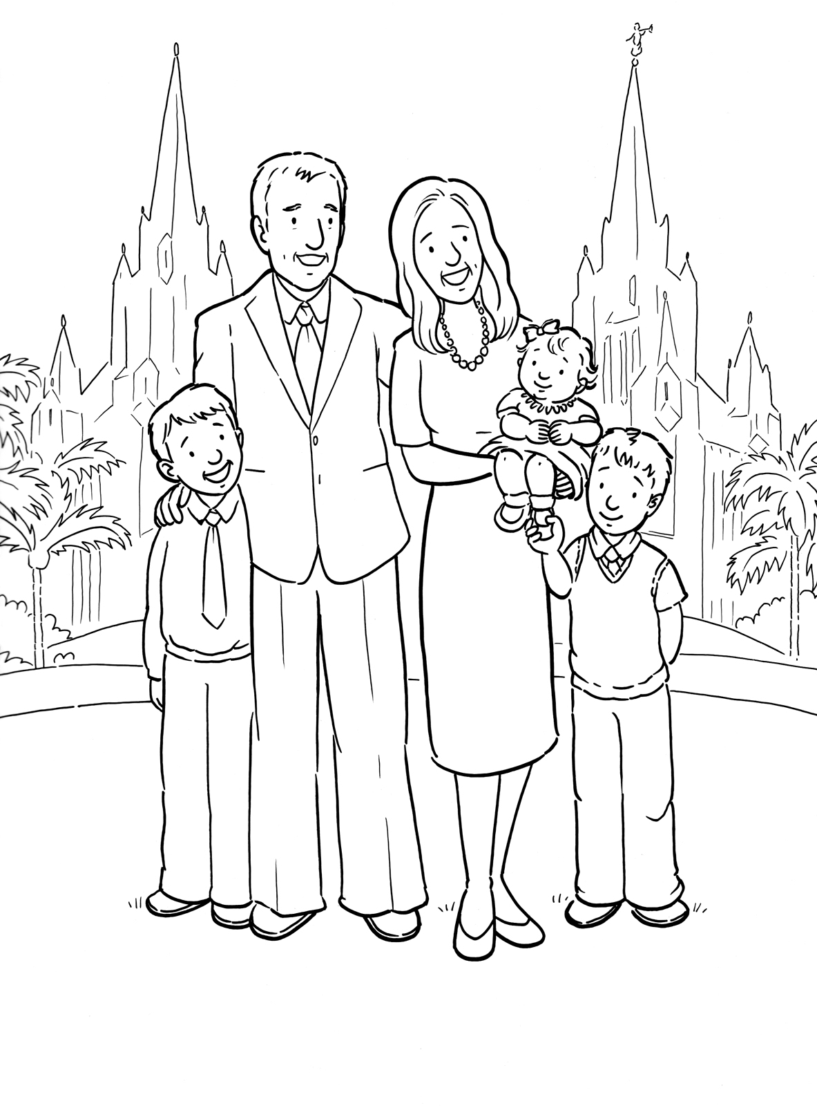 A Family At The Temple
