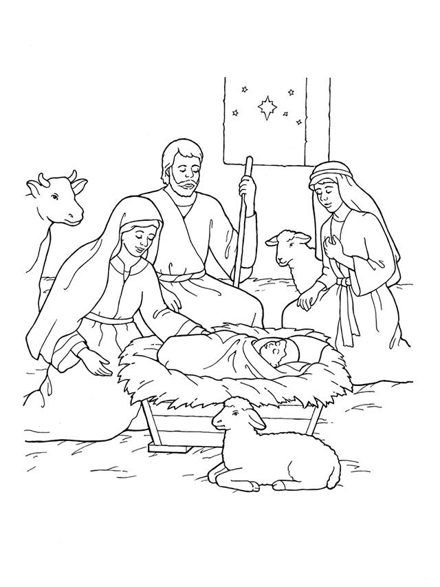 Nativity Mary Joseph Jesus And The Shepherds