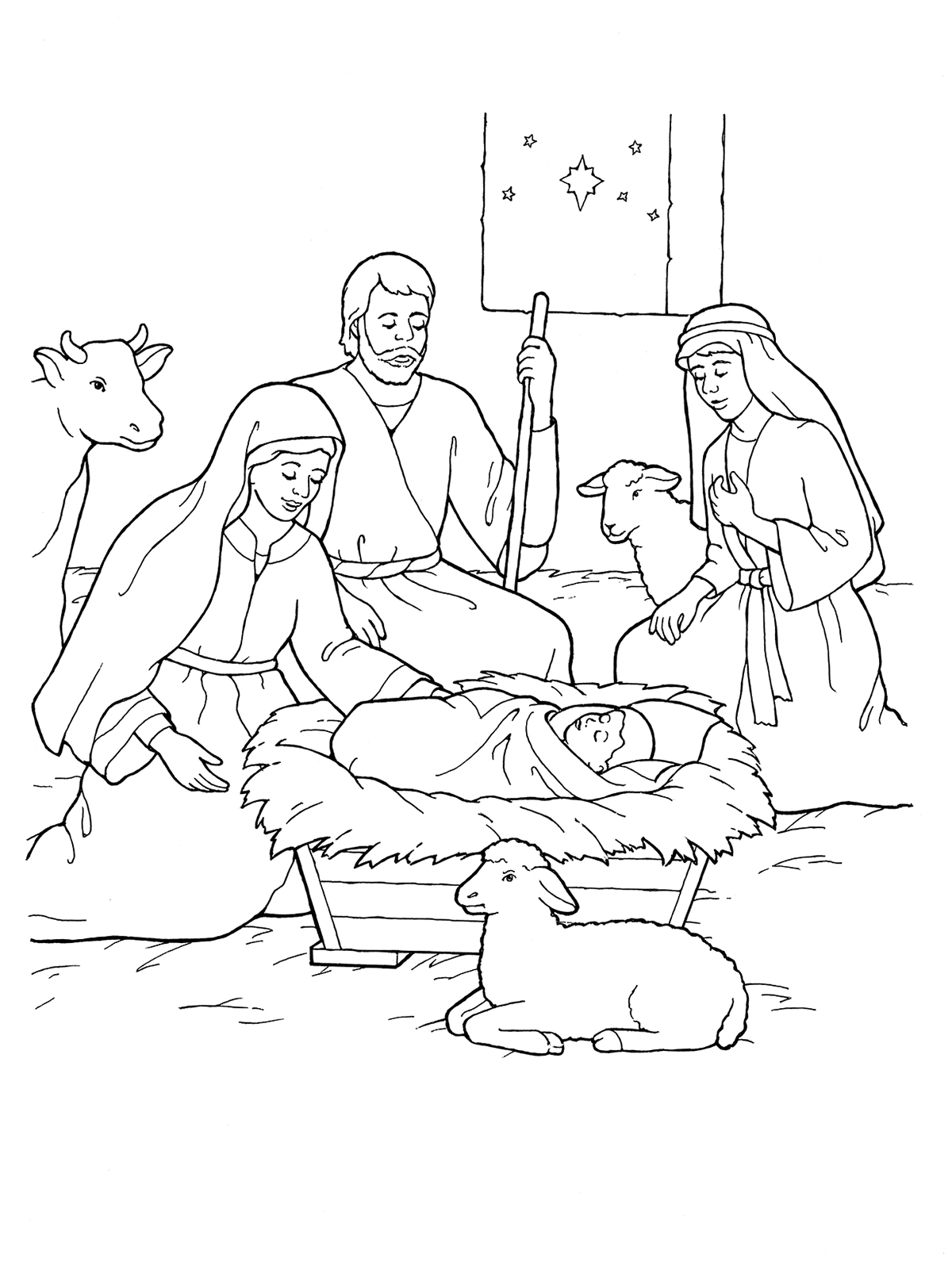 Nativity Coloring Pages Lds