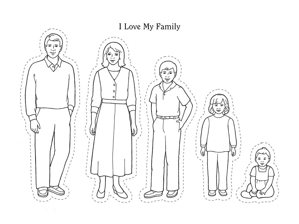 Family Worksheet Extended Colouring