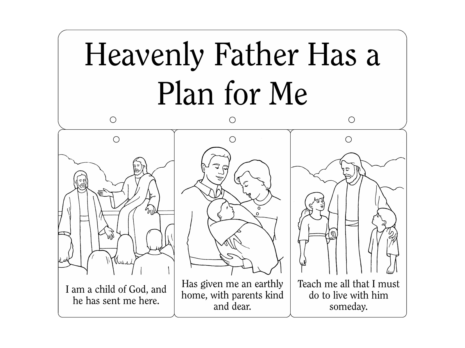 Nursery Manual Page 15 Heavenly Father Has A Plan For Me