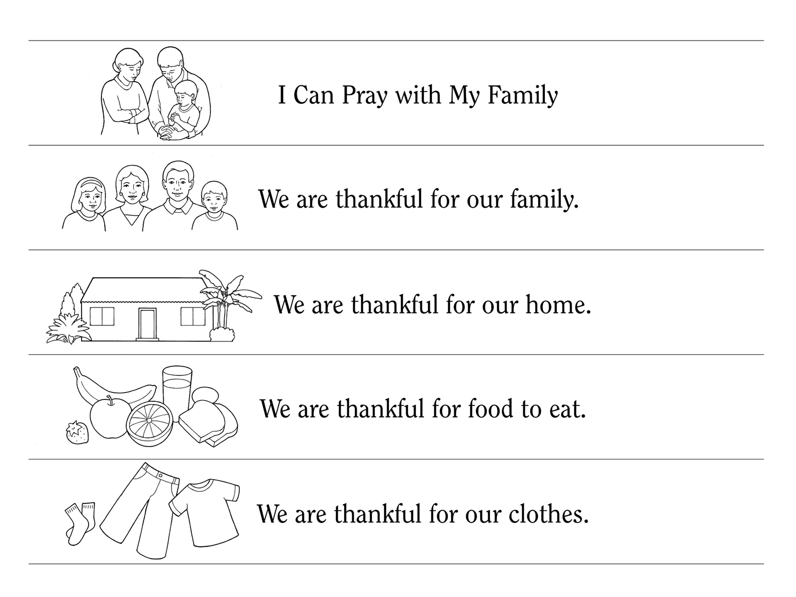 Nursery Manual Page 55 I Can Pray With My Family