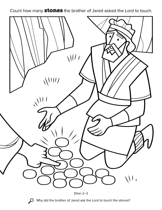 Coloring pages of the jaredite barges