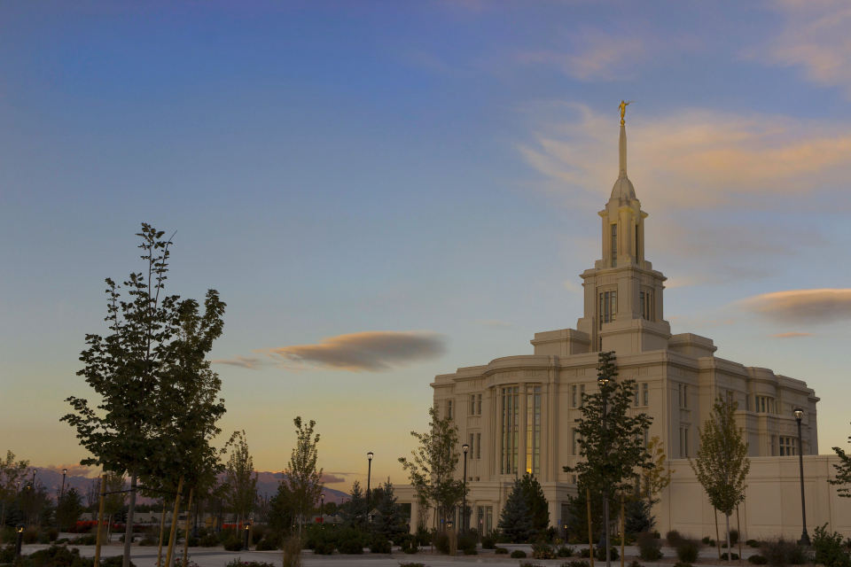 Payson Utah Temple. Courtesy LDS Media Library.