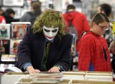 joker from batman at allentown comic con merchants square mall, shopping, collectibles