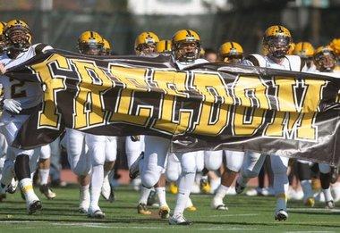 Liberty High School and Freedom High School football teams ...
