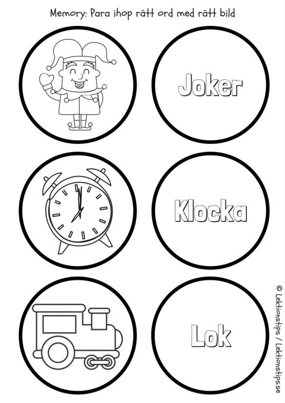 lektionstips, lektioner, gratis lektioner, lektionsmaterial, stenciler, svenska, svenskauppgifter, memory, spel, lekar, lära sig läsa, lära sig skriva, lära sig ord