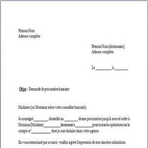 Modele Lettre Procuration Gratuit Document Online