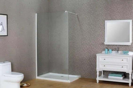 Shower Walk In Sensea Remix White Profile 8mm Clear 90x200cm Leroy Merlin South Africa