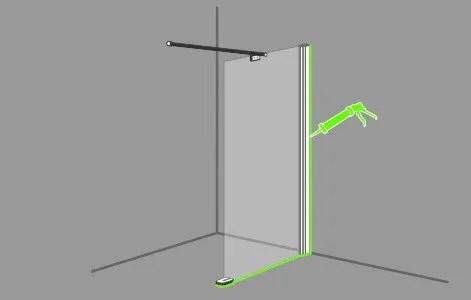 comment poser une paroi dans une douche