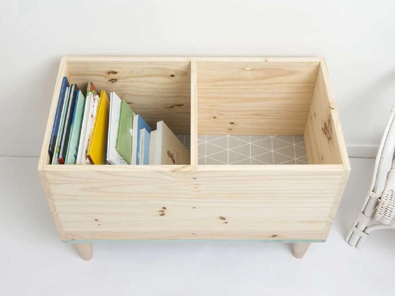 creer un coffre pour ranger ses livres