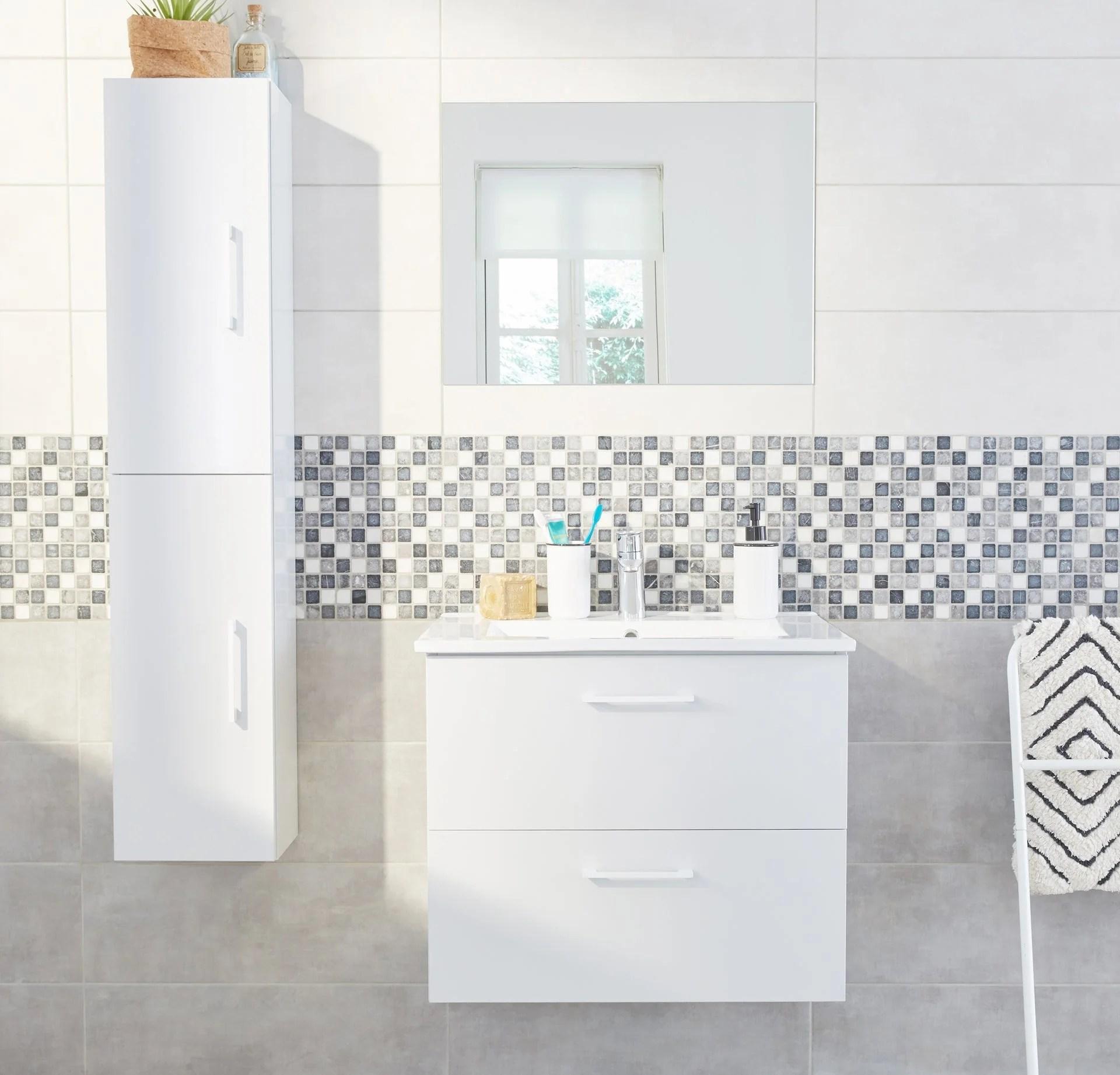meuble de salle de bain et vasque