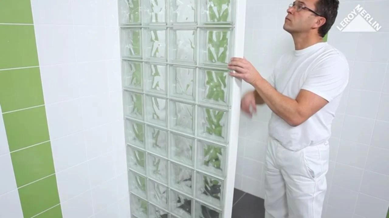comment poser des briques de verre avec