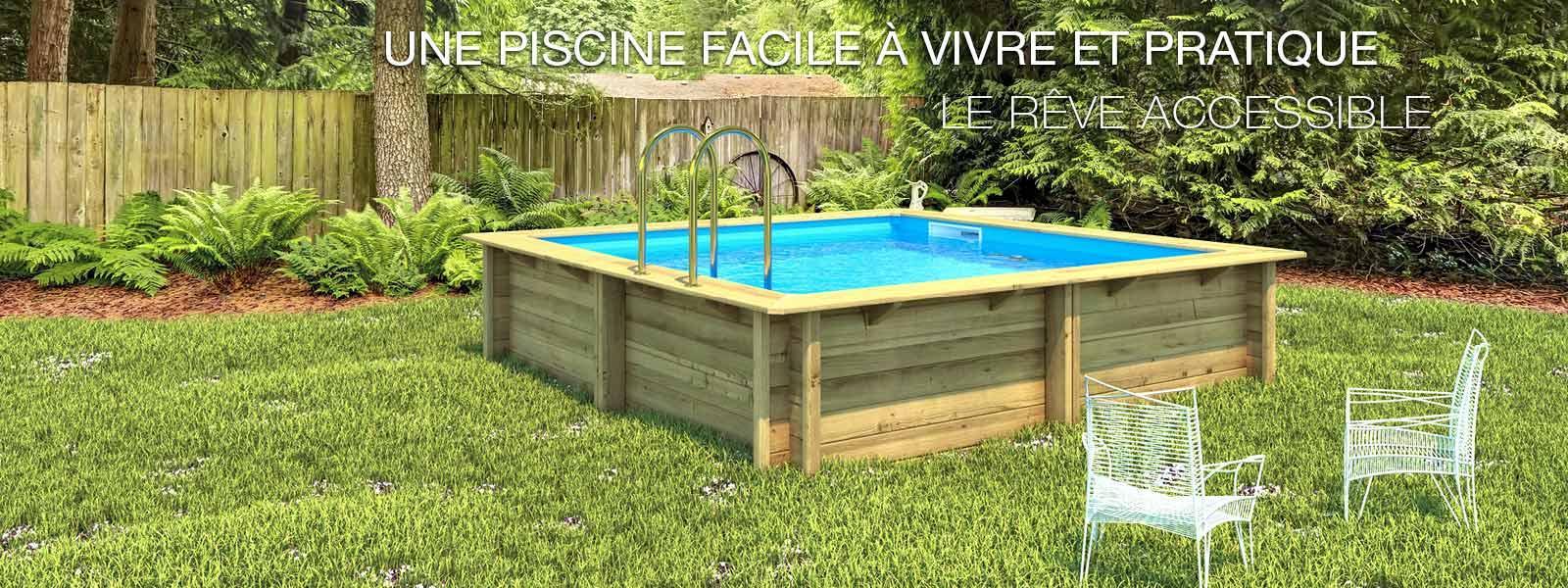 Piscine Bois Weva Bwt Mypool L 8 54 X L 4 54 X H 1 46 M Leroy Merlin