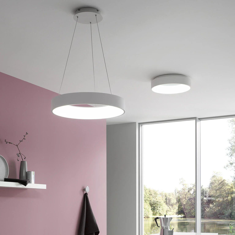 Una mini guida per illuminare al meglio la camera da letto. Lampadario Moderno Cameron Led Integrato Bianco In Metallo Wofi Leroy Merlin