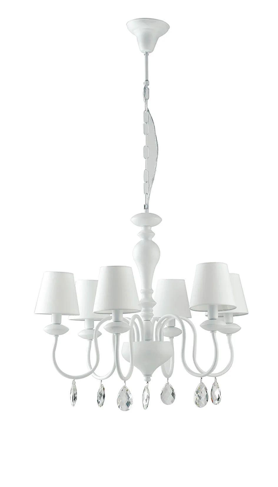 Una vasta selezione di prodotti ai migliori prezzi. Lampadario Neoclassico Arthur Bianco In Metallo 6 Luci Luce Ambiente Design Leroy Merlin