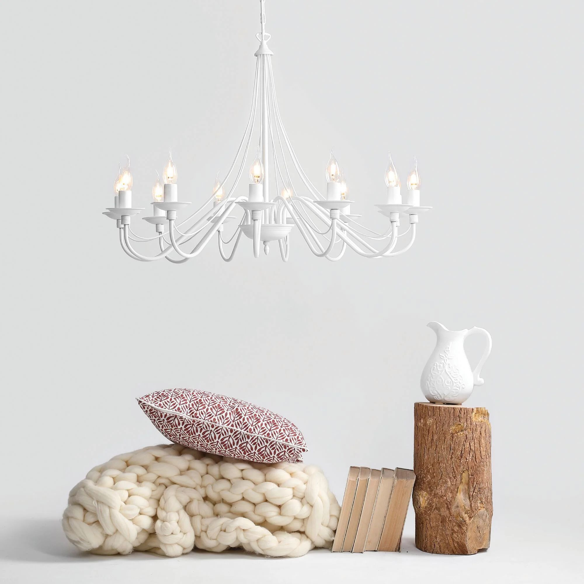 L'azienda leroy merlin, francese e specializzata dal lontano 1923 in bricolage, oggetti d'arredo e di edilizia, offre una vasta scelta di. Lampadario Moderno Lilium Bianco In Metallo L 85 Cm 12 Luci Leroy Merlin