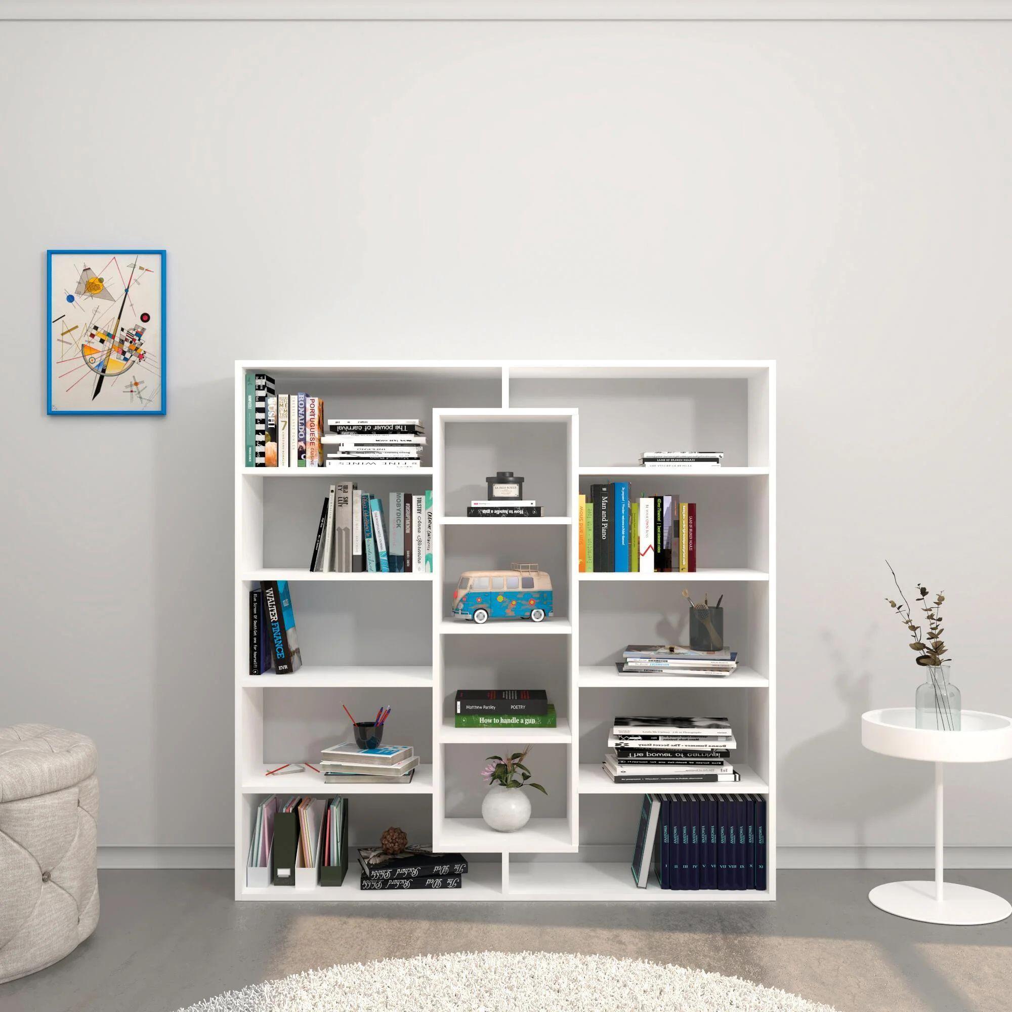 Il segreto è partire dal living e dalle sue librerie che arredano il salotto. Libreria Dalia L 130 X P 27 X H 130 Cm Leroy Merlin