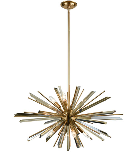 avenue lighting hf8202 ab palisades ave 8 light 32 inch antique brass hanging chandelier ceiling light in champagne glass