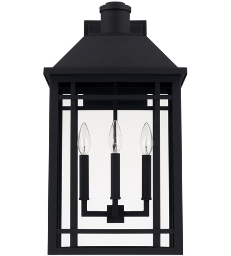 capital lighting 927131bk braden 3 light 23 inch black outdoor wall lantern
