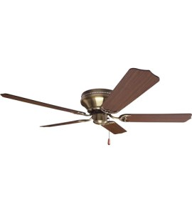 Craftmade K11242 Pro Contemporary 52 inch Antique Brass with Cherry     Craftmade K11242 Pro Contemporary 52 inch Antique Brass with Cherry Blades Flushmount  Ceiling Fan Kit in Contractor Standard  Light Kit Sold Separately
