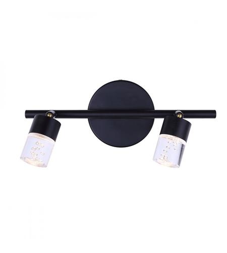 canarm lt142a02bk fitz 2 light black track ceiling light