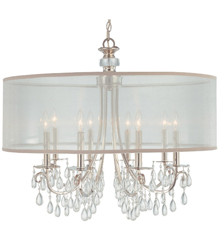 Crystorama 5628 Ch Hampton 8 Light 32 Inch Polished Chrome Chandelier Ceiling In